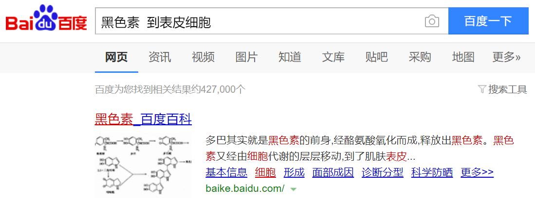 百度(Baidu)での検索結果